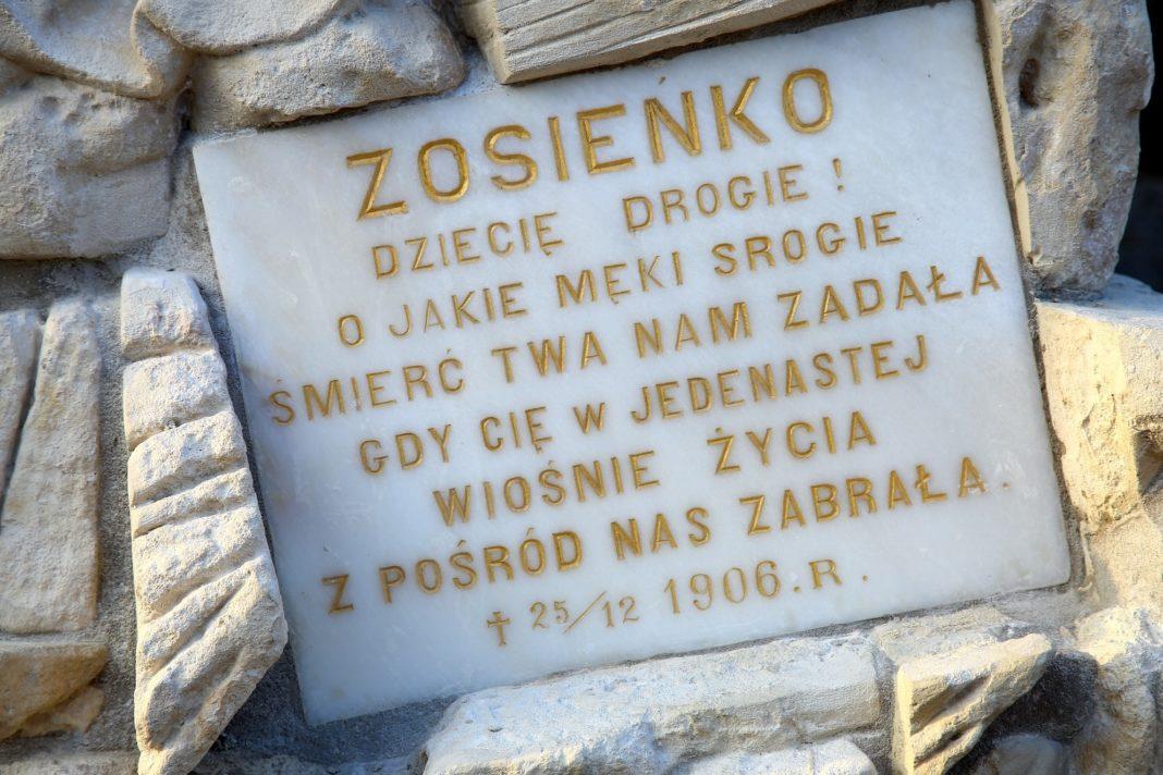 Pomnik nagrobny Zofii Olgi Lewickiej - po renowacji
