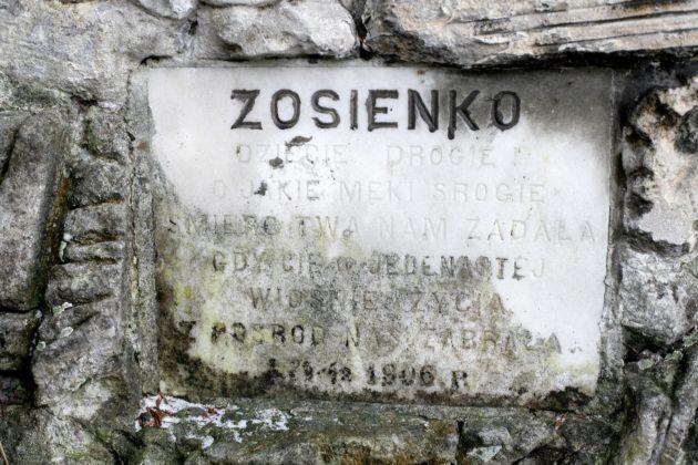 Pomnik nagrobny Zofii Olgi Lewickiej - przed renowacją